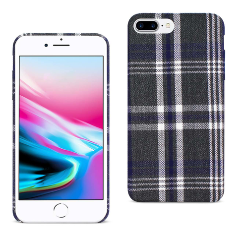 iPhone 8 Plus Plaid Fabric Case