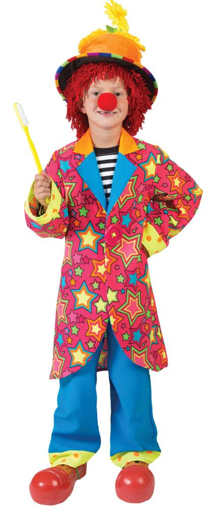 Sparkling Star Clown Boys Costume Size 10
