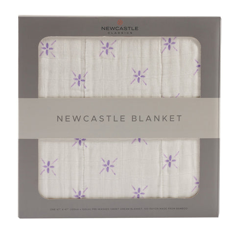 Watercolor Star and White Newcastle Blanket -