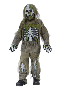 Skeleton Zombie Boys Costume Md