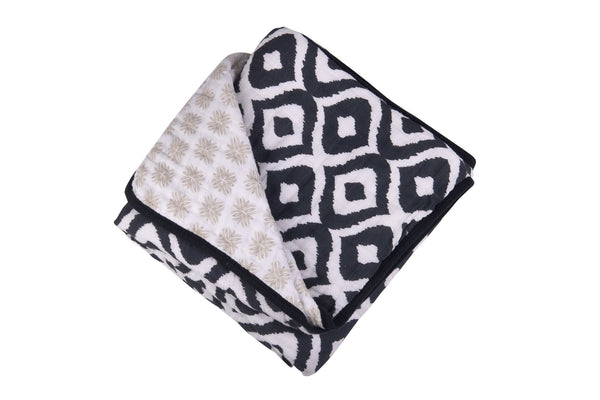 Morrocan Blue And Traveler Dot Newcastle Blanket-