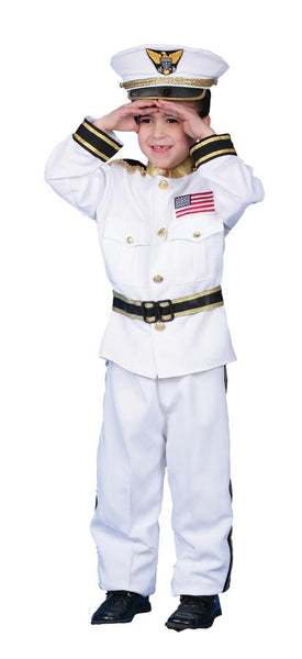 Navy Admiral Boys Costume Sm 4-6