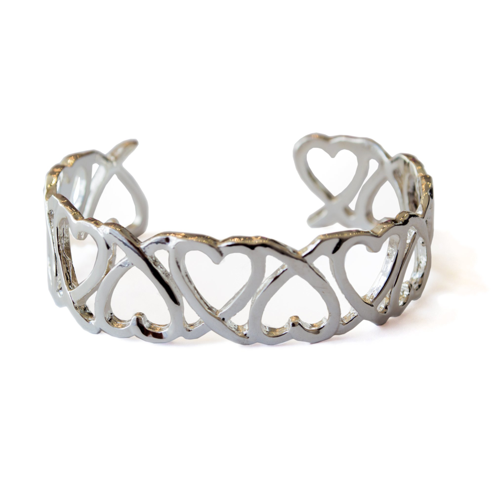 Jane Sterling Silver Heart Bracelet