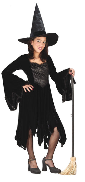 Velvet Witch Black Child Lg