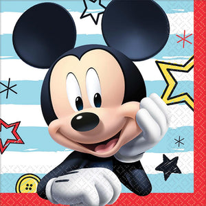 Disney Mickey Mouse Beverage Napkins -Set of 16