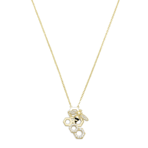 Signity CZ Bee Necklace