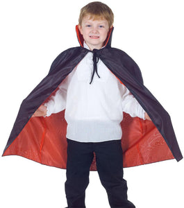 Cape Taffeta Child Costume Red-Black