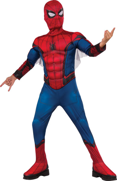 Spiderman Padded Boys Costume Large