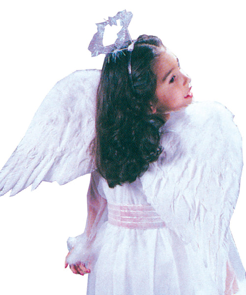 Angel Wings Feathr Child Wht
