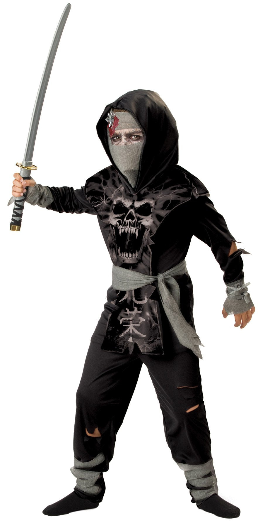 Dark Zombie Ninja Boys Costume 12