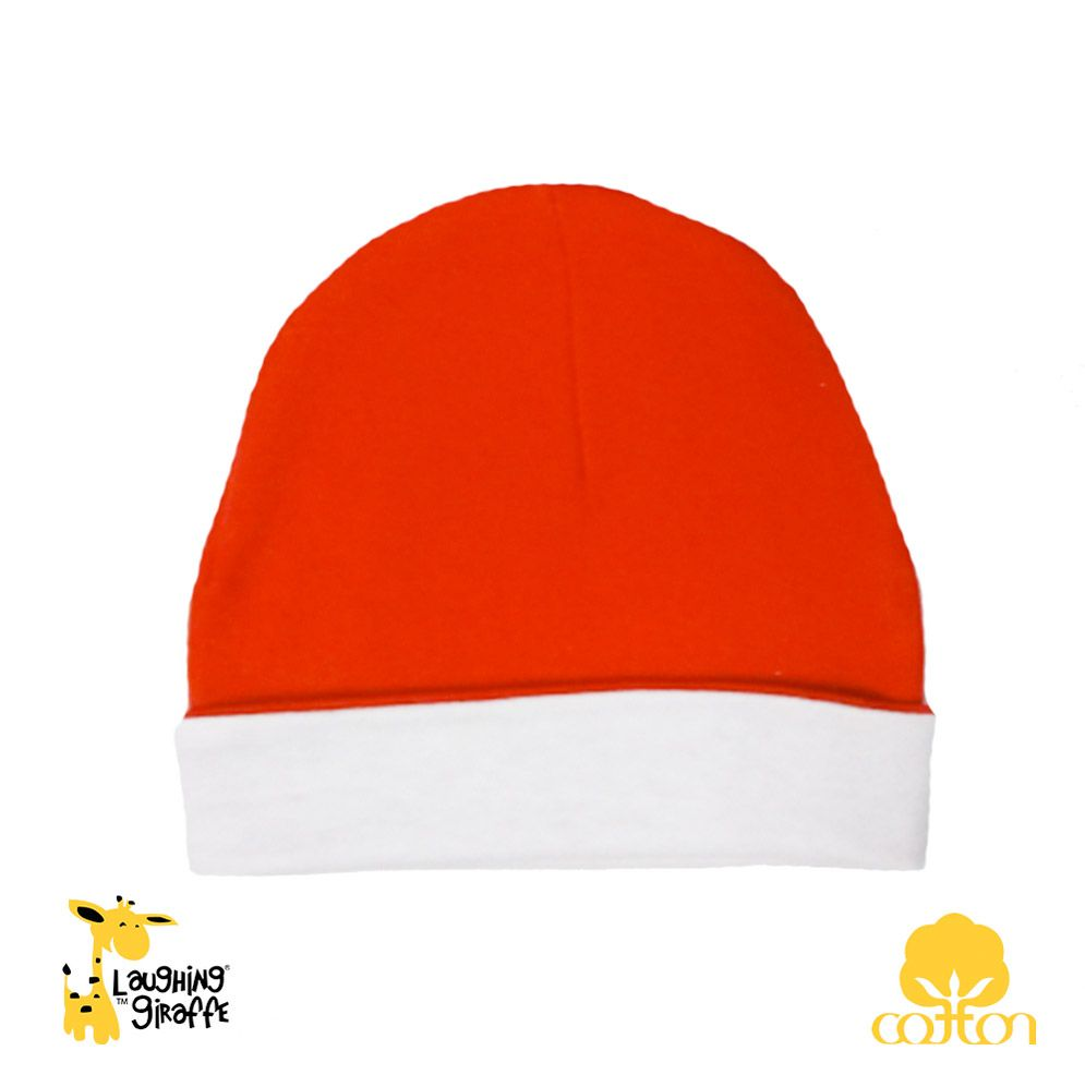 Ringer Beanie Hat - White/Red