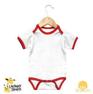 Ringer S/S Onesies - White/Red