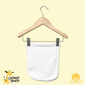 Baby Burp Cloth - White 1 Ply