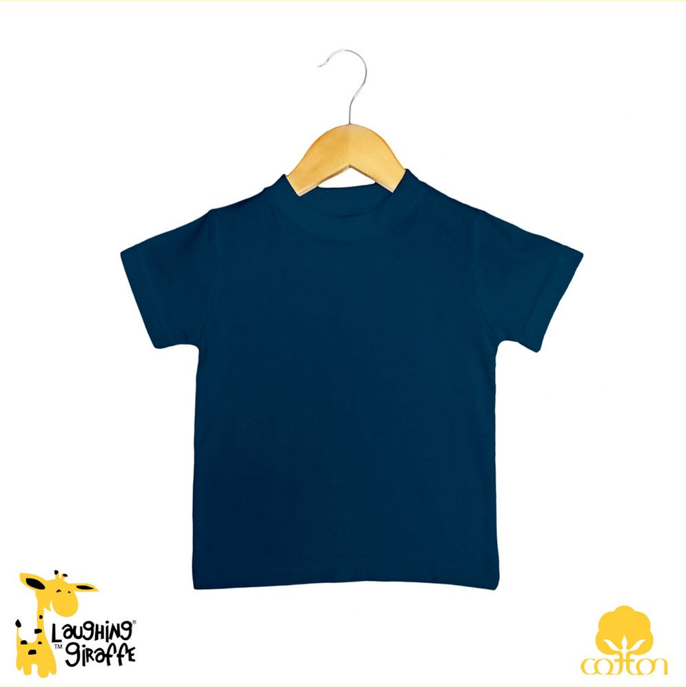 Baby T Shirt Crew Neck - Black Navy