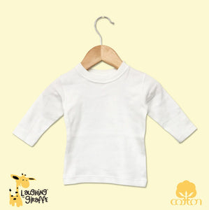 Baby T-shirt  L/S Crew neck - White