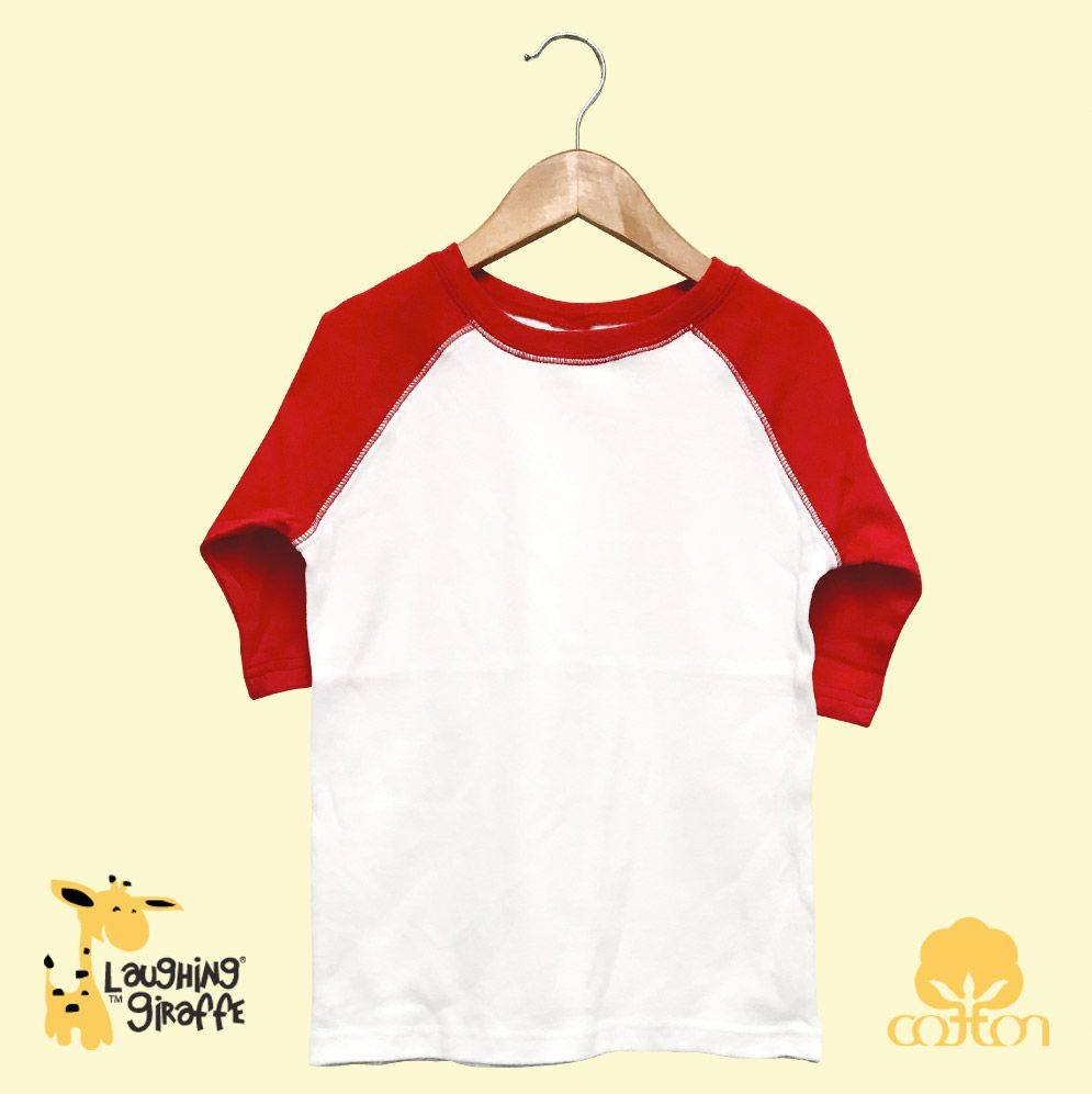 Toddler Raglan T-Shirt - White/Red