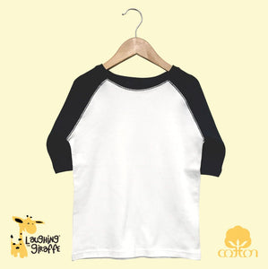Toddler Raglan T-Shirt - White/Black