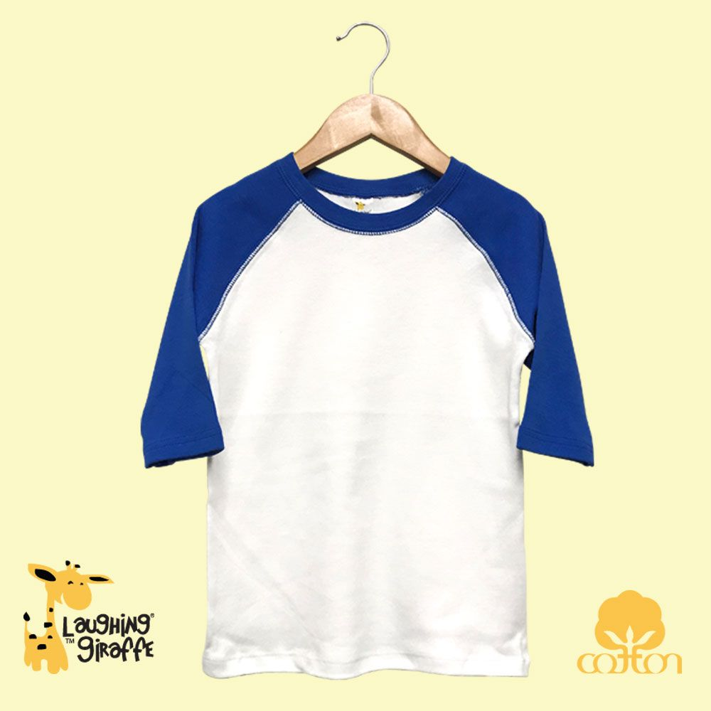 Toddler Raglan T-Shirt - White/Royal