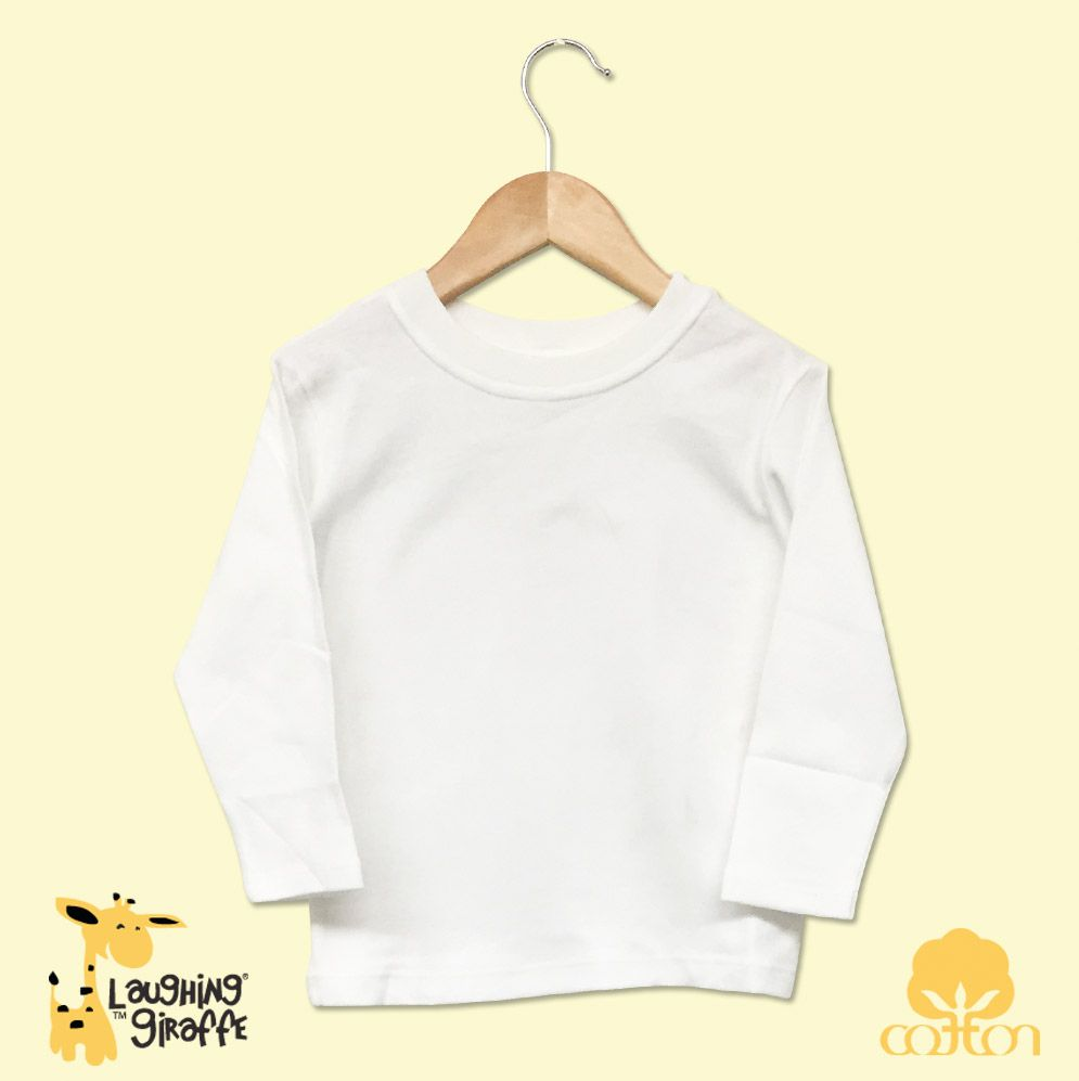 Toddler White L/Sleeve T-Shirt