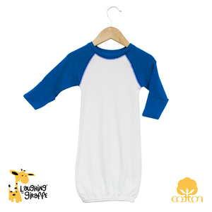 Raglan Gown w/ Mittens - Royal