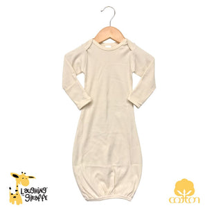 Baby Gown w/ Mittens - Natural