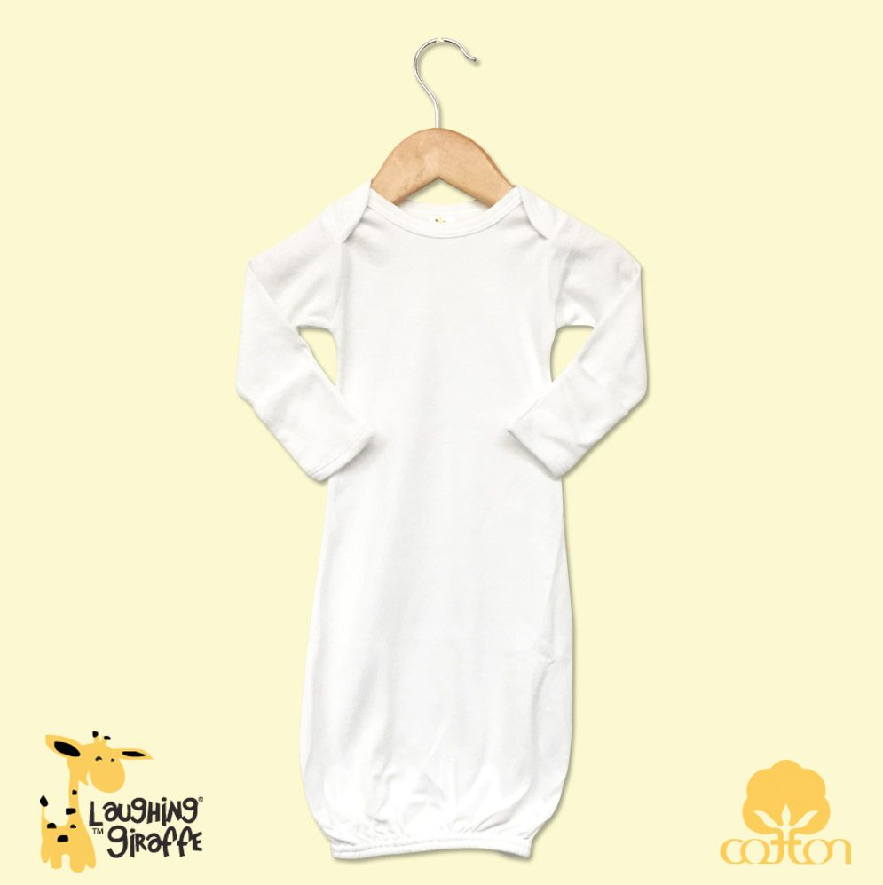 Baby Gowns w/ Mittens - White