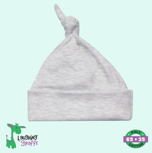 Knotted Beanie Hat - Gray