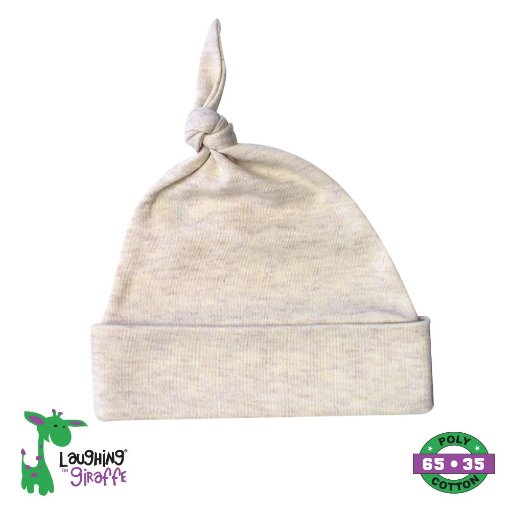 Knotted Beanie Hat - Oatmeal