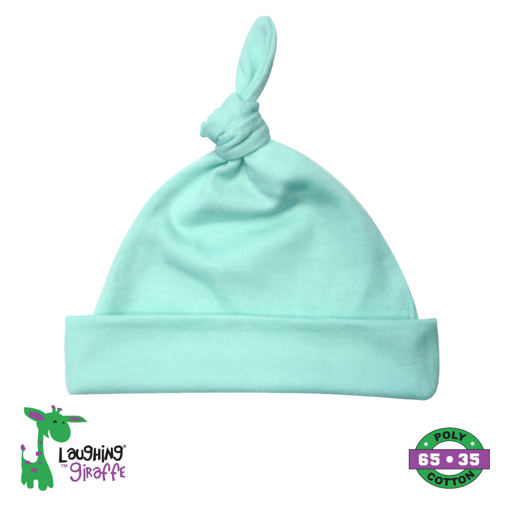 Baby Knotted Beanie Hat - Mint