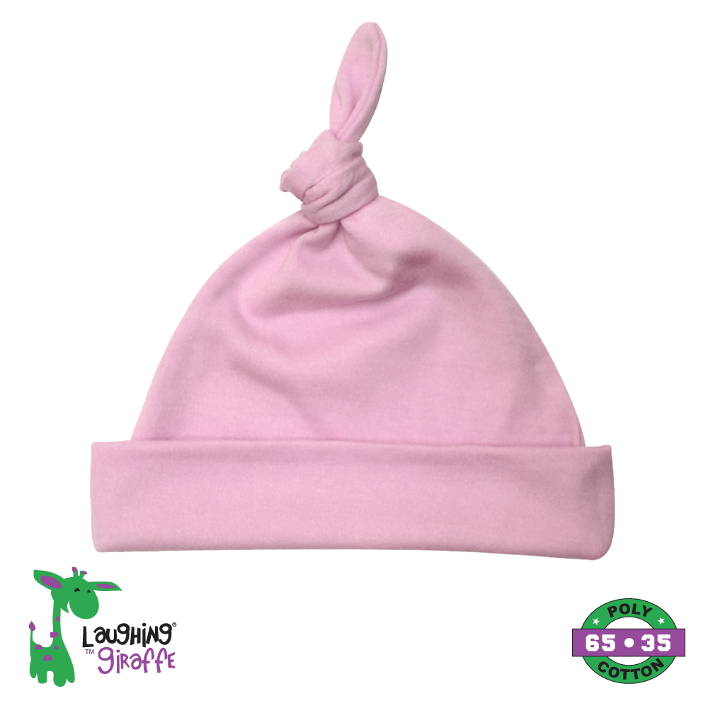 Baby Knotted Beanie Hat - Pink
