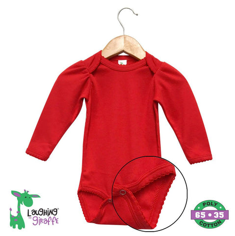 Baby L/S Scallop Onesie - Red
