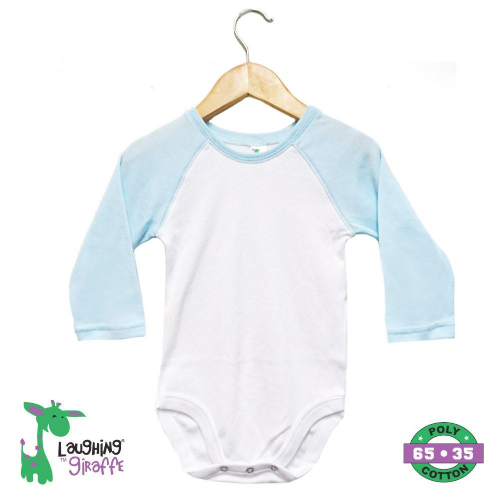 Baby Raglan Onesies Long Sleeves - Blue
