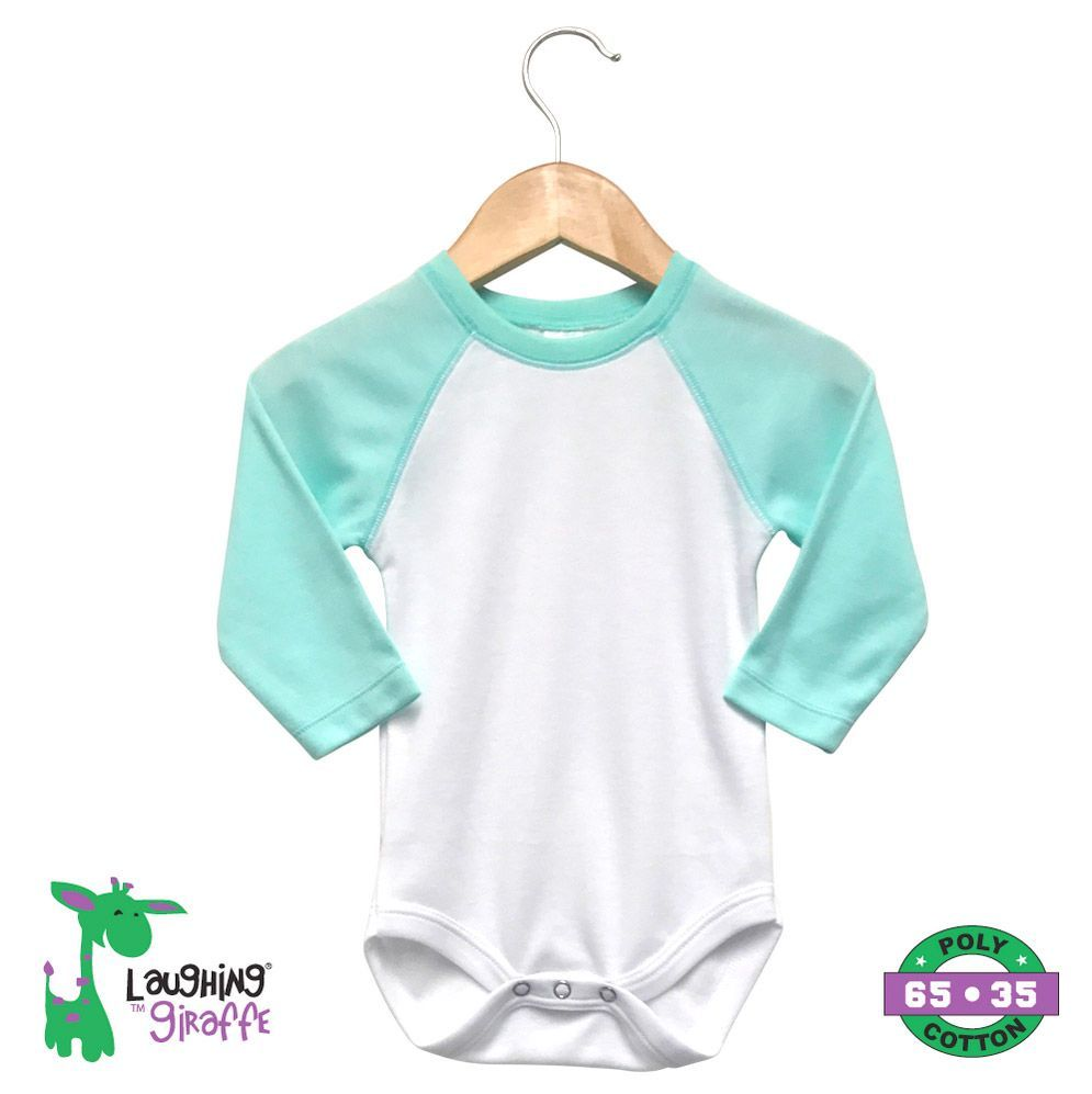 Baby Raglan Onesies Long Sleeves - Mint