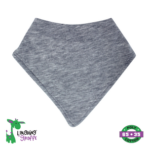 Baby Bandana Bib - Heather Gray