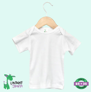 Baby Lap Tee S Sleeves - White