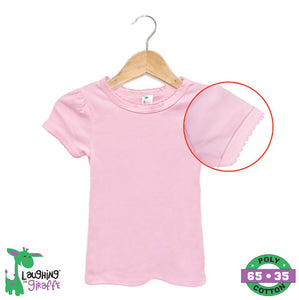 Baby S/S T-Shirt Scallop - Pink