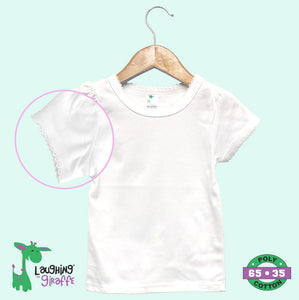 Baby Scallop Trim T-Shirt - White