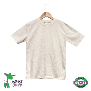Baby T Shirt Crew Neck - Oatmeal