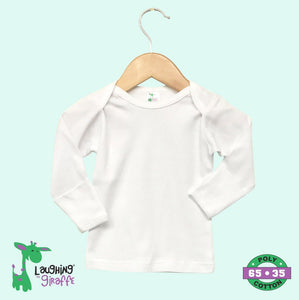 Baby t-shirt with Mittens - White