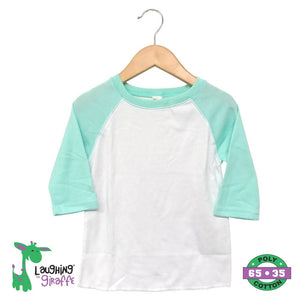 Toddler Raglan T-Shirt - White/Mint