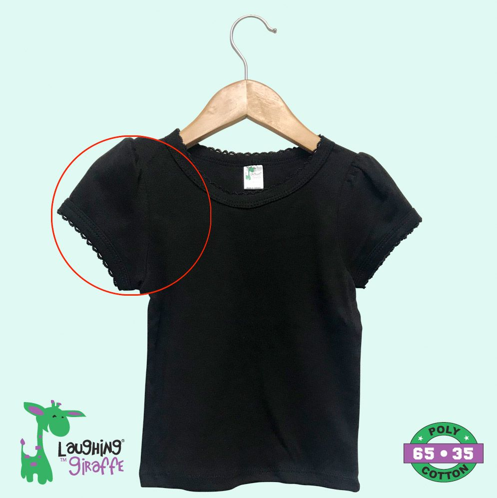 Toddler Scallop Tee S/Sleeves - Black