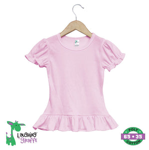 Toddler Ruffles T-Shirt S S - Pink