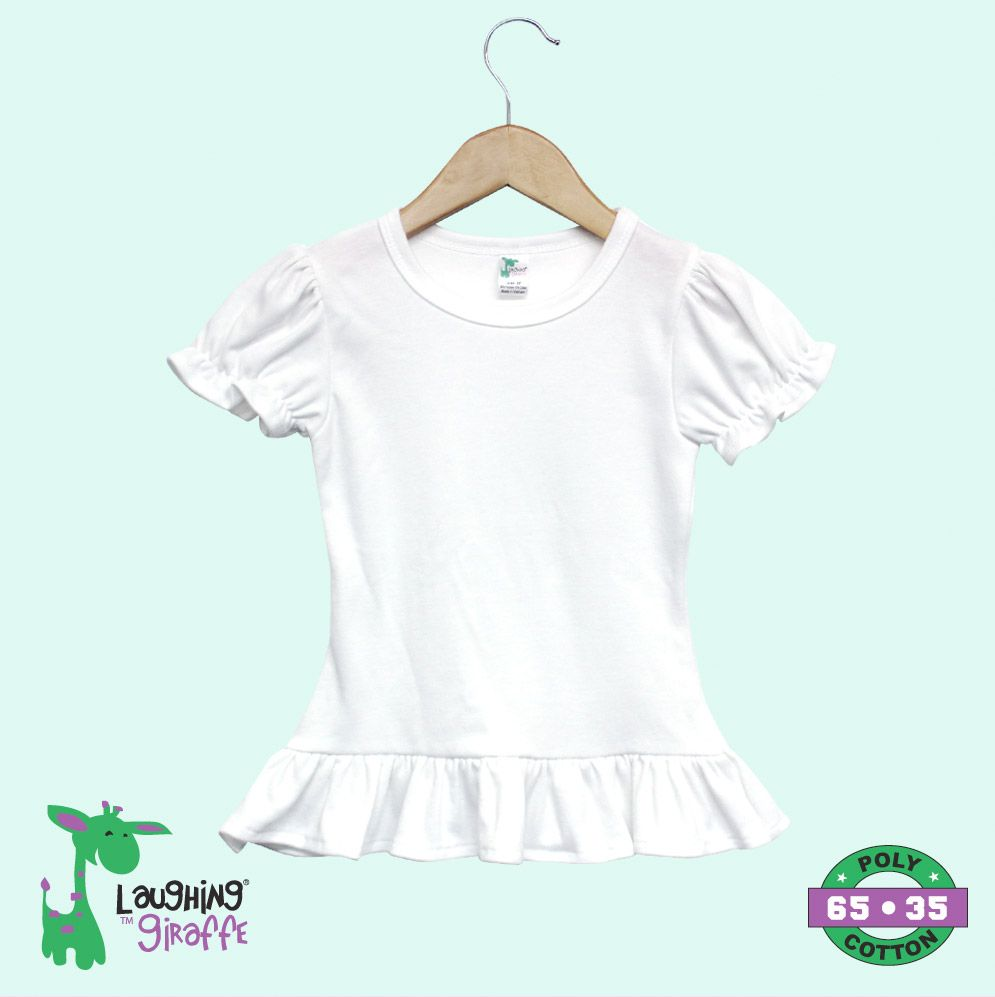 Toddler Ruffle T-Shirt - White