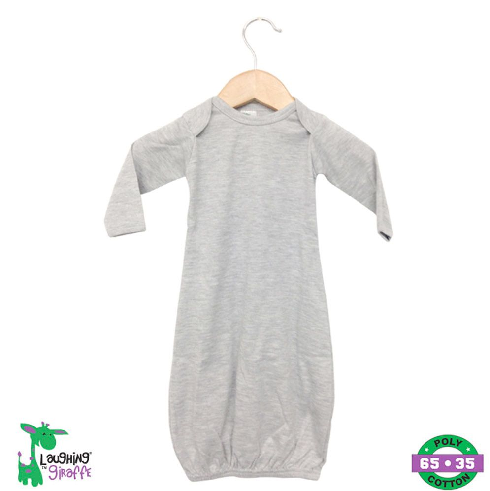 Baby Sleeping Gown - Heather Gray