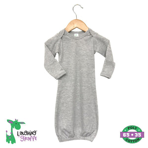 Sleep Gown w Mittens - Grey