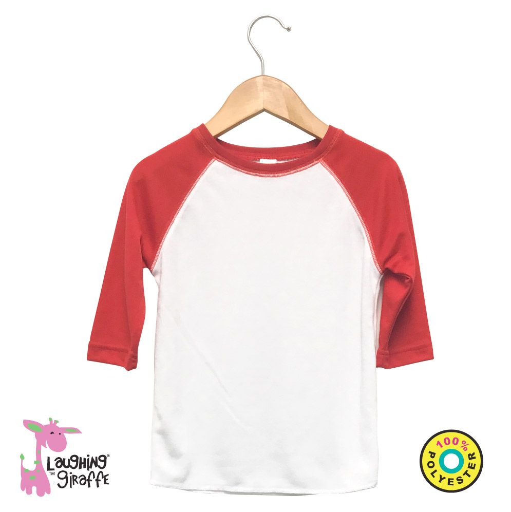 Baby Raglan T-Shirt- White/Red