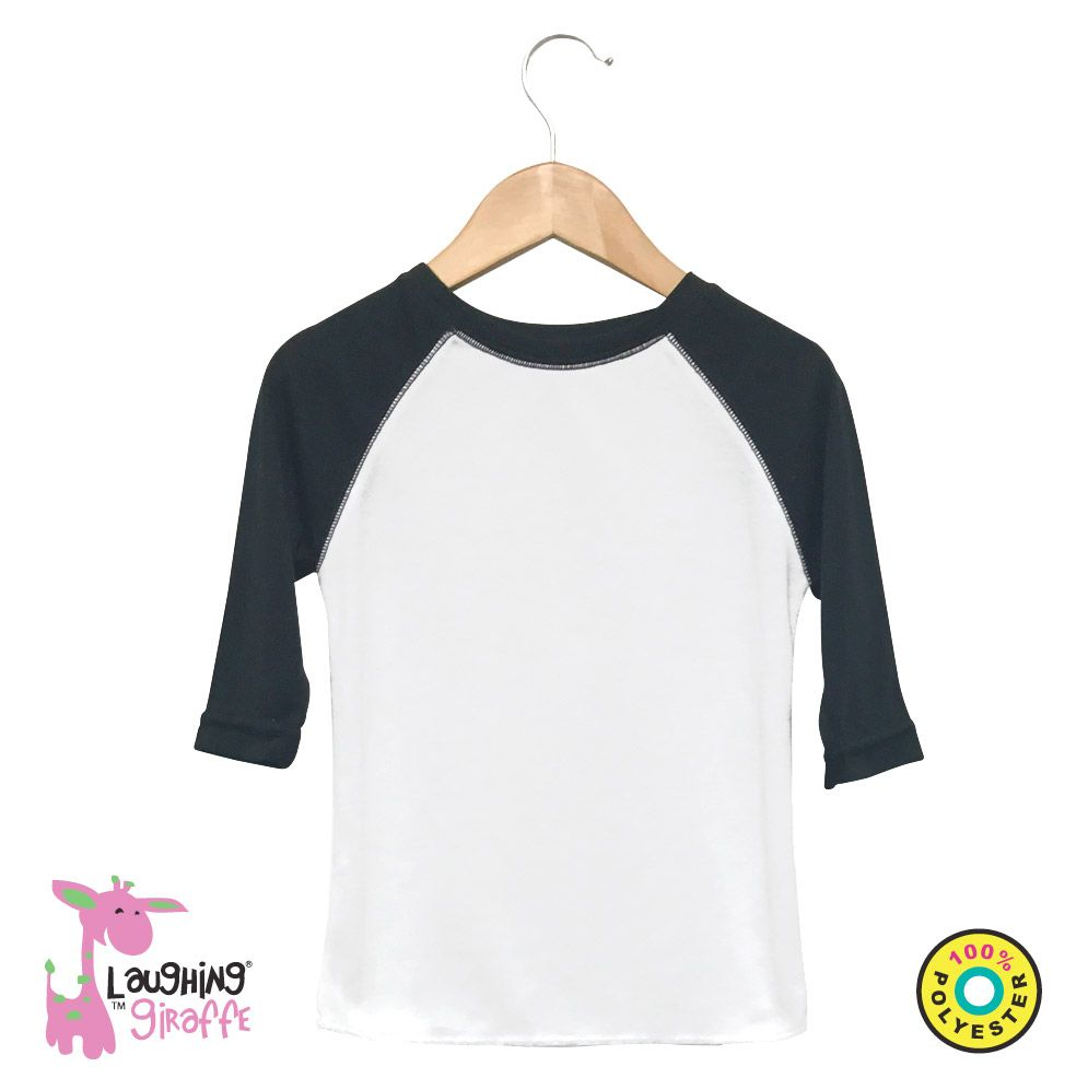 Baby Raglan T-Shirt - White/Black