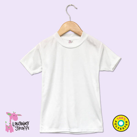 Baby White T-Shirt Polyester