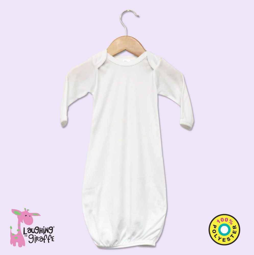 Baby Gown White Polyester