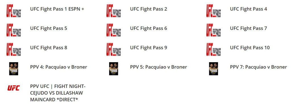 PPV Event Channels